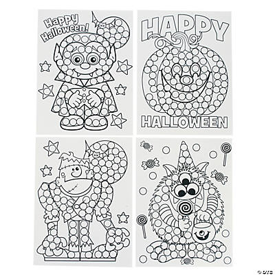 Halloween Dot Activity Sheets