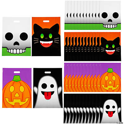 Halloween Emoji Face Trick-Or-Treat Goody Bags
