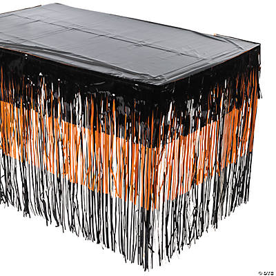 Halloween Fringe Table Skirt