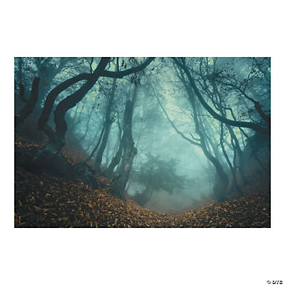Halloween Haunted Forest Backdrop Banner