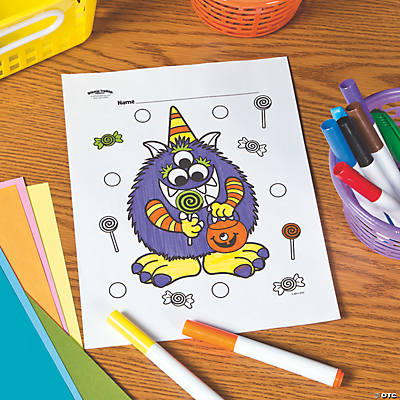 Halloween Monster Free Printable Coloring Page