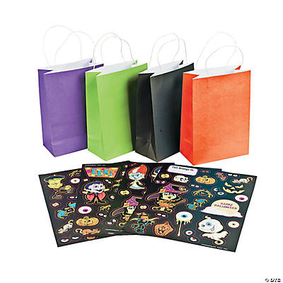 Halloween Scary Craft Bags with Stickers