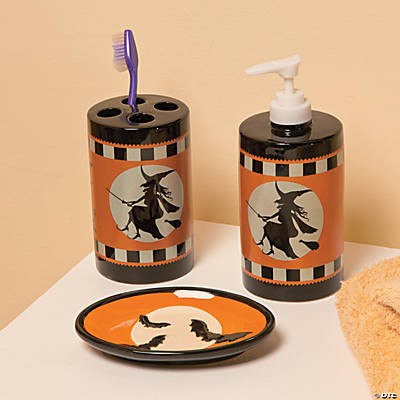 Halloween Silhouette Bathroom Accessories. Halloween Silhouette Bathroom Accessories   Oriental Trading