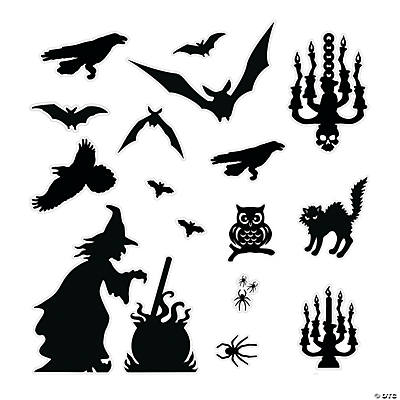 halloween silhouette dcor kit
