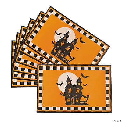 24 Halloween Silhouette Placemats