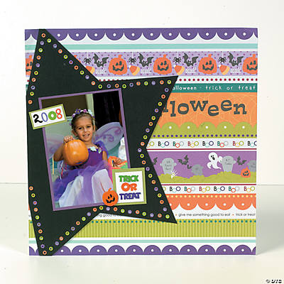 Halloween Star Finished Page Idea