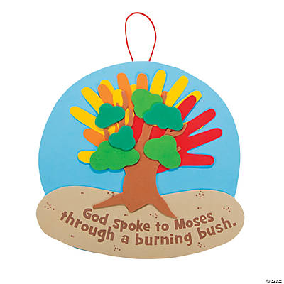 Handprint Burning Bush Sign Craft Kit