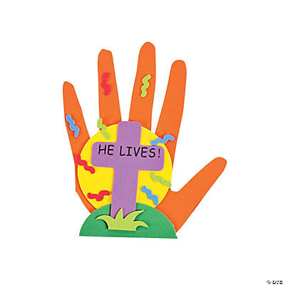 "Handprint ""He Lives!"" Magnet Craft Kit"