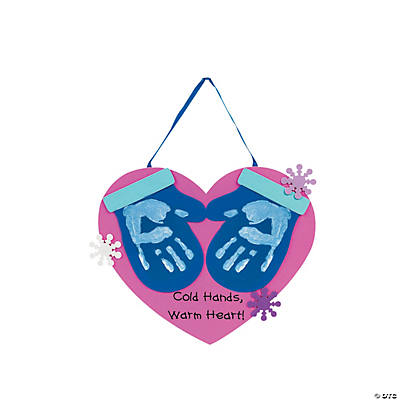 Handprint Mitten Hanging Keepsake Craft Kit