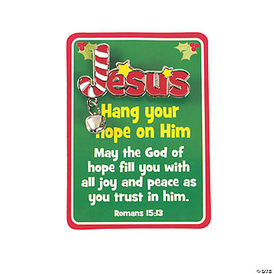 """Hang Your Hope on Him"" Pins with Cards"