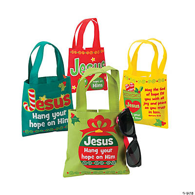 """Hang Your Hope on Him"" Small Totes"