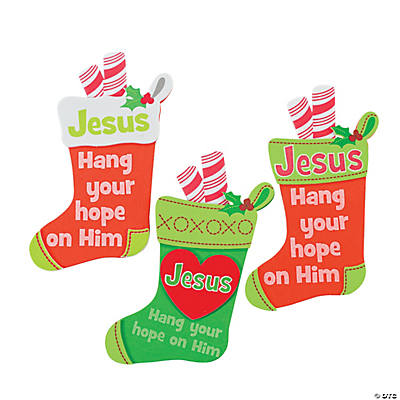 Hang Your Hope on Him Stocking Magnet Craft Kit