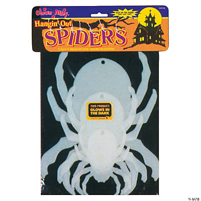 Hanging Glow-in-the-Dark Spiders