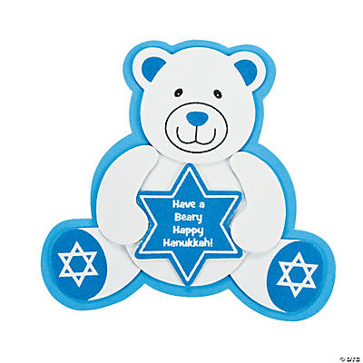 Hanukkah Bear Ornament Magnet Craft Kit