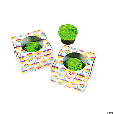 """Happy Birthday"" Cupcake Boxes"