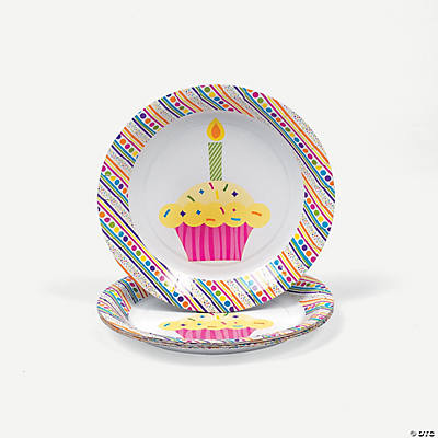 """Happy Birthday"" Dessert Plates"