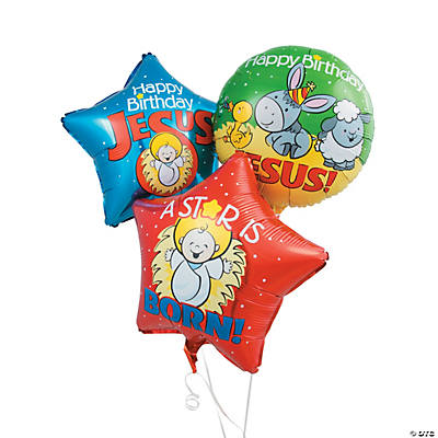 Happy Birthday Jesus Mylar Balloons