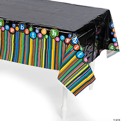 """Happy Birthday"" Pattern Tablecloth"