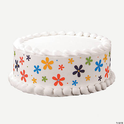 Edible Cake Decoration Flowers : Happy Flowers Edible Images  Cake Decoration Set ...