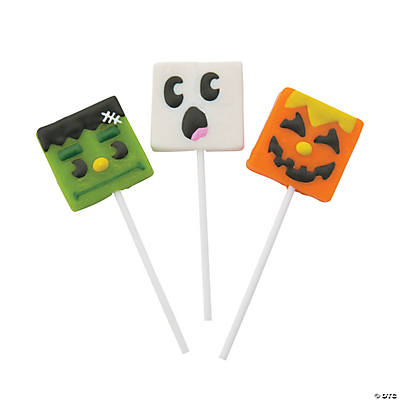 Happy Halloween Frosted Lollipops