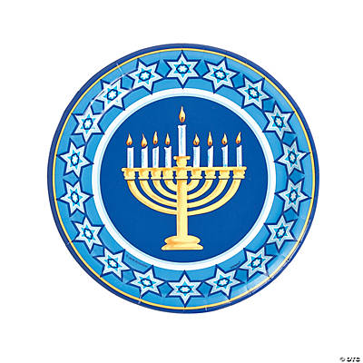 Happy Hanukkah Paper Dinner Plates
