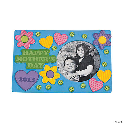 """2013 Happy Mother's Day"" Magnet Picture Frame Craft Kit"