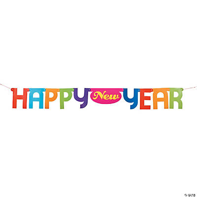 """Happy New Year"" Bright Jointed Banner"