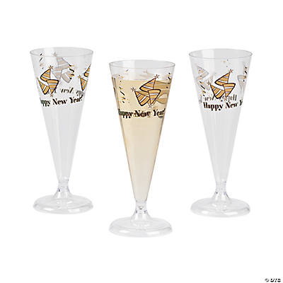 Happy New Year Champagne Flutes