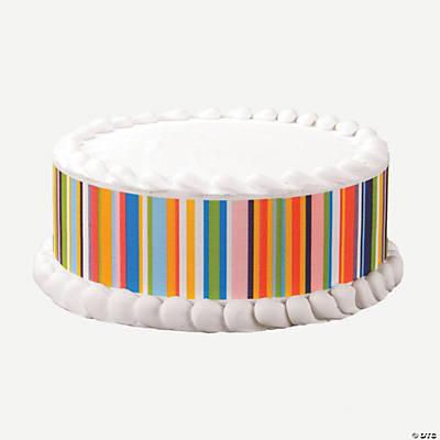 Happy Stripes Edible Images  Cake Decoration Set ...
