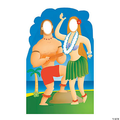 Hawaiian Couple Photo Cardboard Stand-Up