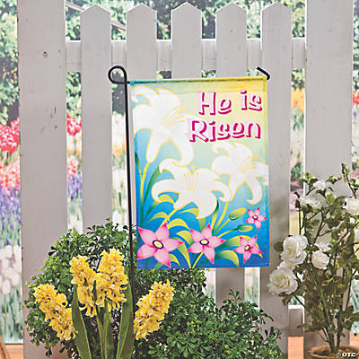 """He Is Risen"" Garden Flag"