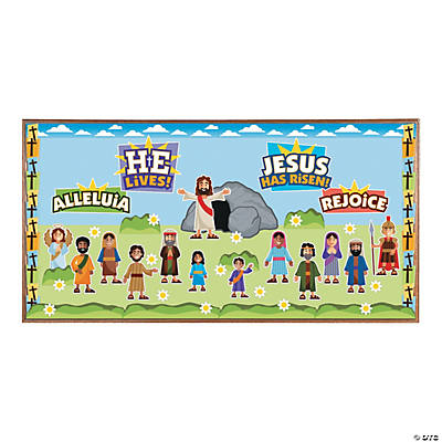 He Lives Bulletin Board Set
