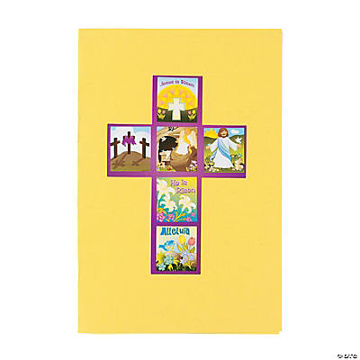 """He Lives!"" Cross Sticker Scenes"