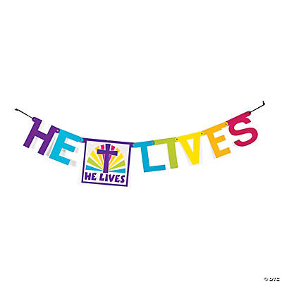 """He Lives"" Jointed Banner"