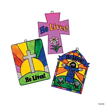 """He Lives"" Suncatchers"