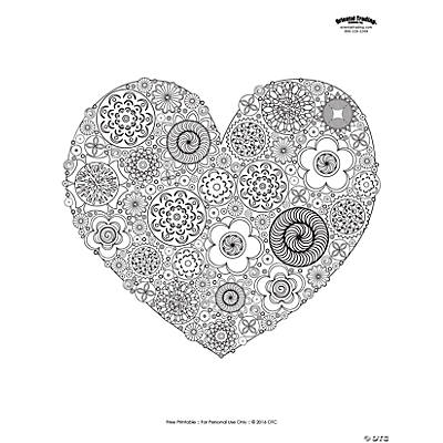 Heart Adult Coloring Page Free Printable