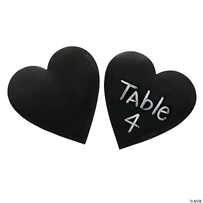 Heart Chalkboard Stickers