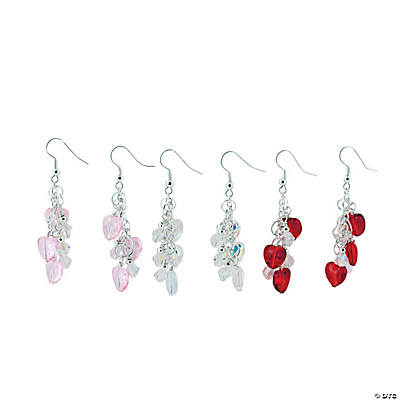Heart Dangle Earrings Craft Kit