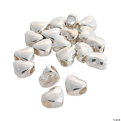 Heart Large Hole Beads - 12mm x 11mm