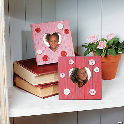 Heart Picture Frames with Buttons