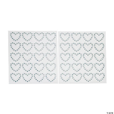 Heart Rhinestone Stickers