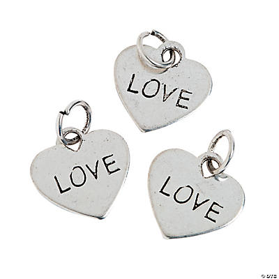"Heart-Shaped ""Love"" Charms"