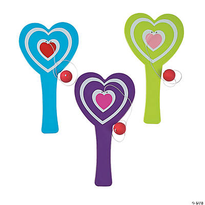 Heart-Shaped Paddleball Games