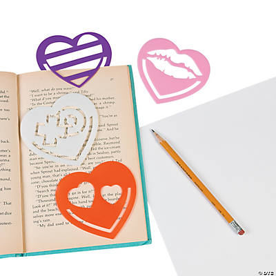Heart Stencil Bookmarks