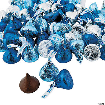 Hershey s kisses blue silver chocolate candy for K decorations trading