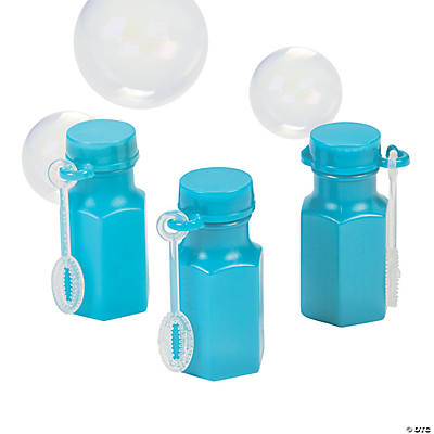 Hexagon Turquoise Bubble Bottles