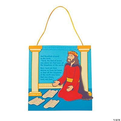 Hezekiah Prays Sign Craft Kit