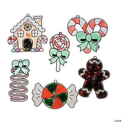 Holiday Candy Suncatcher Christmas Ornaments