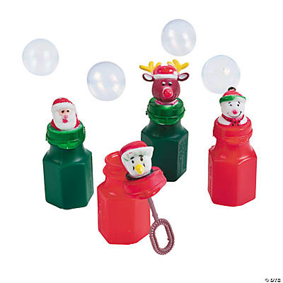 Holiday Character Bubble Bottles