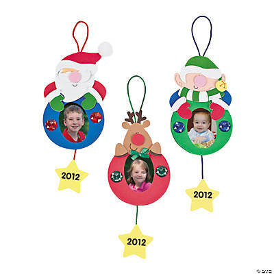 """2012"" Holiday Ornament Picture Frame Craft Kit"